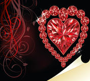 Love ruby heart, wedding valentines day Stock Photo