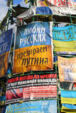Love russians, hate Putin Stock Photography