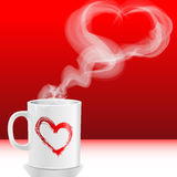 Love's cup. Illustration Valentine's day, love's cup Royalty Free Stock Photography