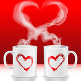 Love's cups. Illustration Valentine's day, love's cups Stock Image