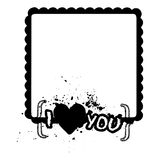 Love´s frame Royalty Free Stock Images