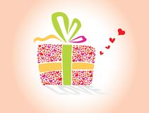 Love's hearts Gift Royalty Free Stock Photos