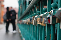 Love's locks! Stock Photography