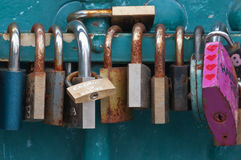 Love's locks! Royalty Free Stock Image