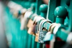 Love`s locks! Stock Photos