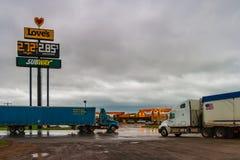 Love`s travel stop, Oklahoma stock photos
