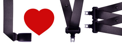 Love safety belt Stock Photos