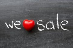 We love sale Stock Photos