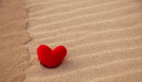 Love on sand Royalty Free Stock Photo
