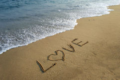 Love in the sand Royalty Free Stock Photo