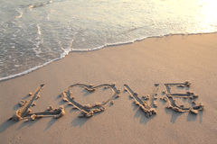 love on sand Stock Images