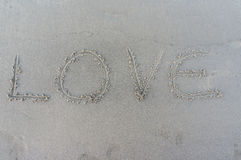 Love on the sand Royalty Free Stock Photos