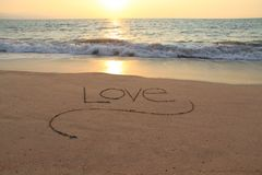 Love in the sand Royalty Free Stock Photography