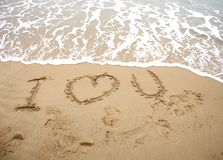 Love in sand Royalty Free Stock Photo
