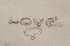 Love in sand Royalty Free Stock Photography