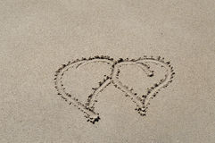 Love in sand Royalty Free Stock Images