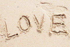 Love sand Royalty Free Stock Photo