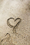 Love with sand Royalty Free Stock Images