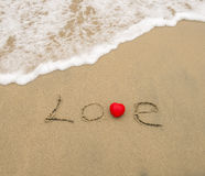 Love on the sand Stock Photography