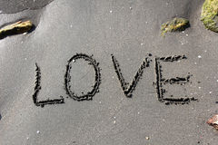 Love on Sand Royalty Free Stock Photos