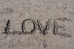 Love on sand Royalty Free Stock Images