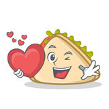 With love sandwich character cartoon style Stock Images