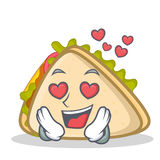 In love sandwich character cartoon style Stock Images