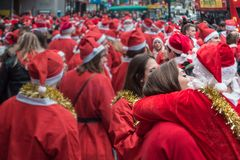 Love at Santacon event in London stock image