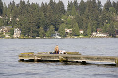 Love on Saturday afternoon at Lake Washington Seattle Royalty Free Stock Photos