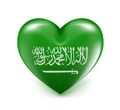 Love Saudi Arabia Hearts Flag Royalty Free Stock Photos