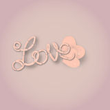 Love sausages illustration Royalty Free Stock Images