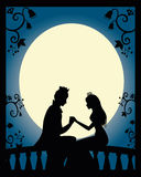 Love scene royalty free illustration