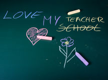 Love in school Royalty Free Stock Image