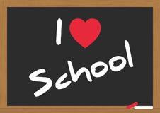Love school. Illustration of i love school on the chalkboard Stock Photography