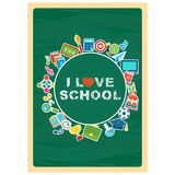 Love school banner Royalty Free Stock Photography