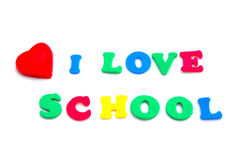 Love school concept Royalty Free Stock Images