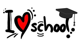 Love school. Creative design of love school Stock Image