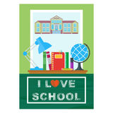 Love school poster Royalty Free Stock Photos