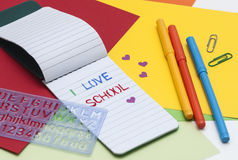 Love school and crafts Stock Photos