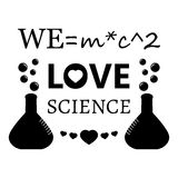 We love science Royalty Free Stock Photo