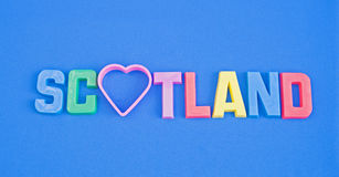Love Scotland: tourist logo. Royalty Free Stock Photography