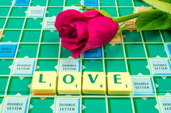 Love Scrabble Royalty Free Stock Image