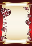 Love scroll stock illustration
