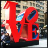 Love sculpture in midtown Royalty Free Stock Images