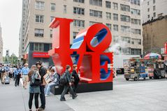 LOVE Sculpture in New York City, USA. NEW-YORK, USA - SEPTEMBER 29, 2009: Love Sculpture in New York City, USA stock photography