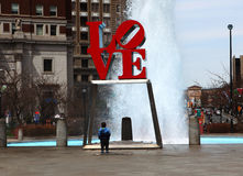 The Love Sculpture in Philadelphia, Pennsylvania Royalty Free Stock Photo