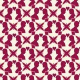 Love seamless geometric pattern. Valentine day background. Stock Image
