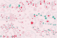 Love seamless pattern. Curly romantic seamless pattern. Vector illustration Royalty Free Stock Images