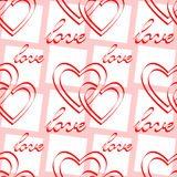 Love. Seamless pattern. Stock Images