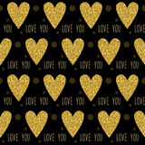 Love seamless pattern background. Gold glitter sparkle texture Stock Image
